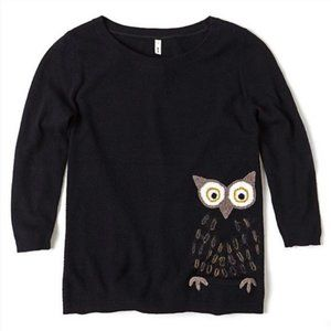 Anthropologie MOTH wizened owl sweater, M